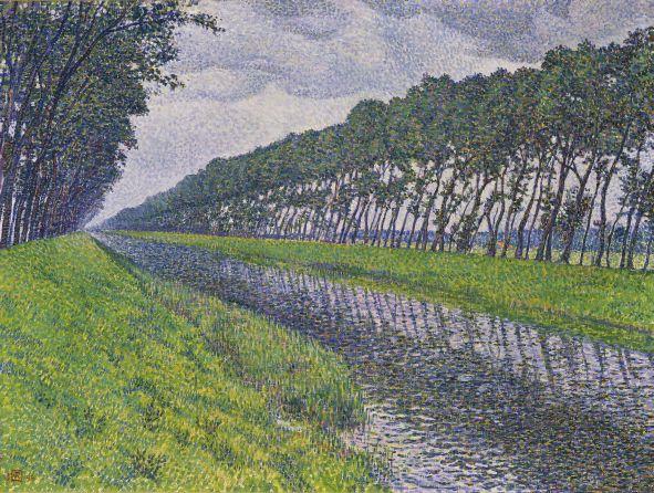 Van-Rysselberghe-le-canal-en-flandre-par-temps-triste-1894