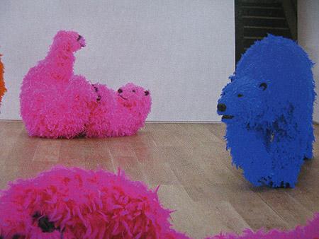 Galleria Emmanuel Pwrrotin; lavoro di Paola Pivi (Leone d'oro alla Biennale di Venezia 2013)