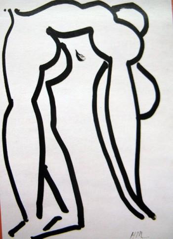 Matisse arte 450 L'acrobata 1952 Parigi Musée National d'Art Moderne Centre G.Pompidou
