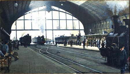 ARTE 450 Angelo Morbelli, La Stazione Centrale di Milano, 1889, olio su tela, Ferrovie dello Stato Italiane