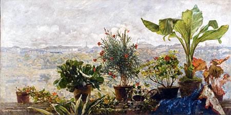 ARTE 450  Filippo Carcano, In Autunno, 1883, olio su tela, 100 x 200 cm, Milano, Collezione Touring Club Italiano