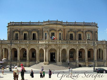 SICILIA Noto Palazzo Ducezio sede del Municipio