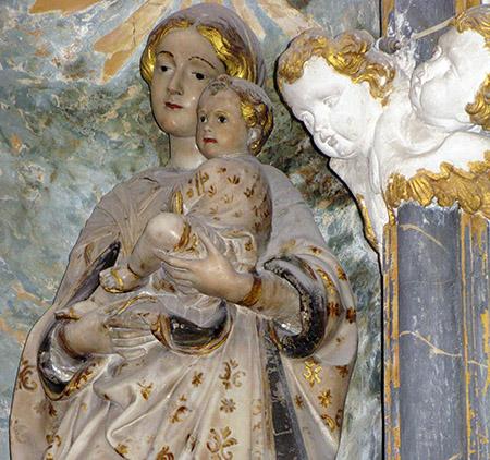 SICILIA Noto interno della Chiesa di Santa Chiara Madonna con Bambino