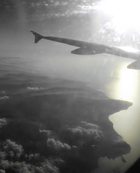 SICILIA aereo ghiaccio nuvole e sole sulla costa nord della della Sicilia