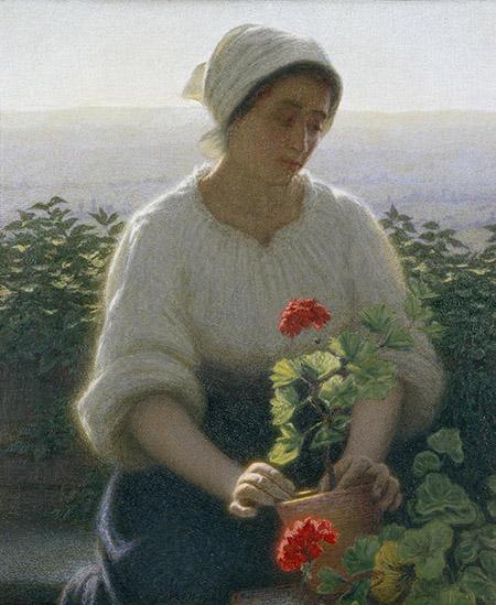 arte 450  Angelo Morbelli, Giardiniera, 1912-1915, olio su tela, 72 x 60 cm, collezione privata 16M