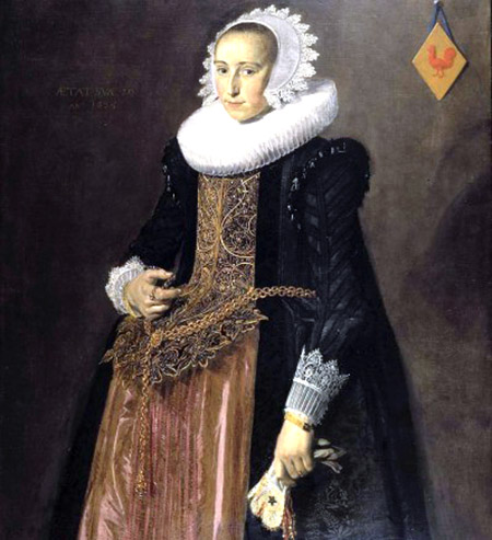 arte particolare Frans Hals, Ritratto di Aletta Hanemans 1625
