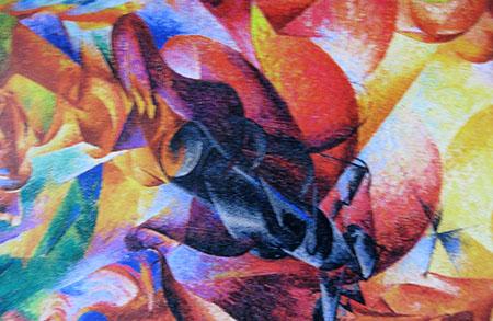ARTE, Umberto Boccioni, 1912, Mi, Museo del Novecento, particolare,