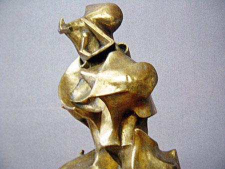 ARTE, Umberto Boccioni, Forme uniche nella continuità dello spazio, 1911,(fusione del 1949), bronzo, Metropolitan, particolare
