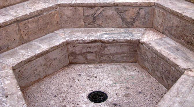 Aquileia fonte battesimale a immersione