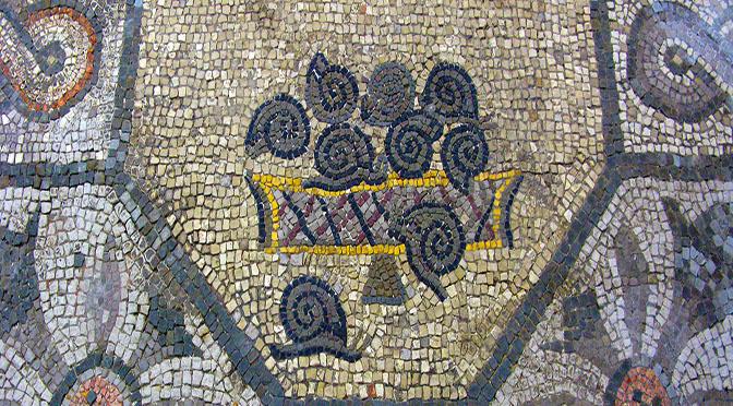 Aquileia mosaico chiocciole