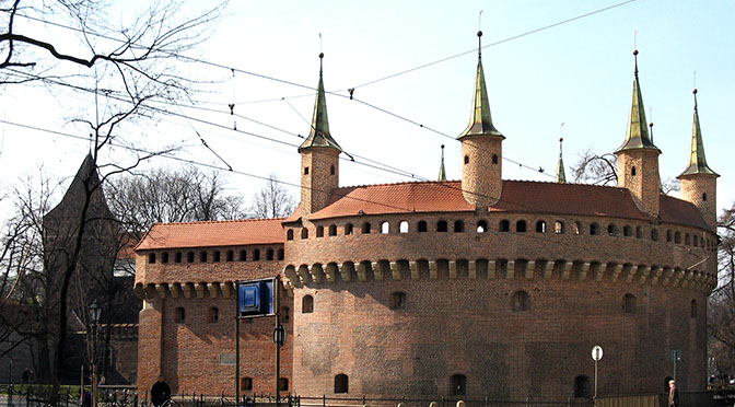Barbakan_672 Krakow_z_ulicy_Basztowej