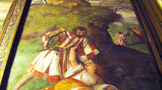 Padova Scoletta del Santo Miracolo del Marito geloso pentito di Tiziano Vecellio ok