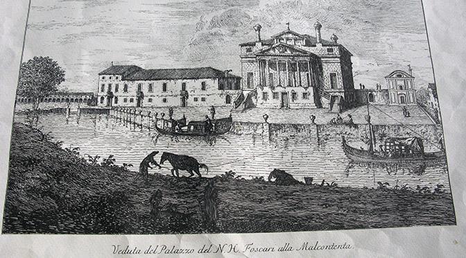 Padova villa Malcontenta stampa antica