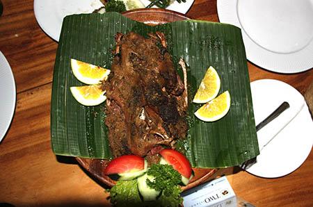 Bali Ubud Bebek benghil anatra speciale affumicata