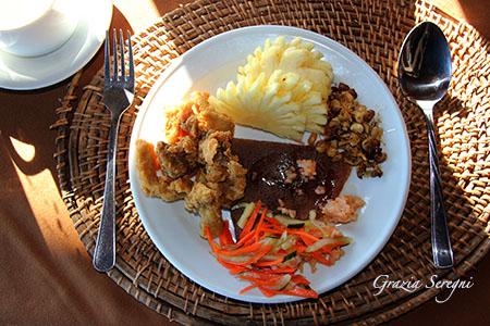 Bali cucina balinese con frutta