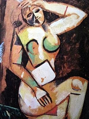 Arte 300 Chagall, nudo con pettine, 1911-12 IMG_0058