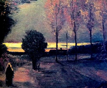 Arte 450 Van Gogh Autunno, paesaggio al crepuscolo, 1885 IMG_0085
