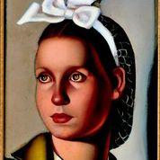 Tamara de Lempicka viso colore bianco e bege