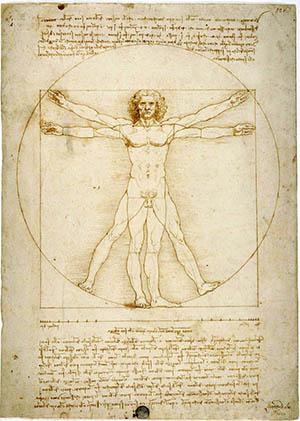 0 300 20 ID 182. Leonardo da Vinci Uomo Vitruviano GALLERIE ACCADEMIA VENEZIA