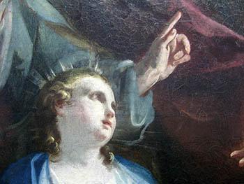 0 arte Federico Ferrario San Giuseppe col Bambino Gesù particolare