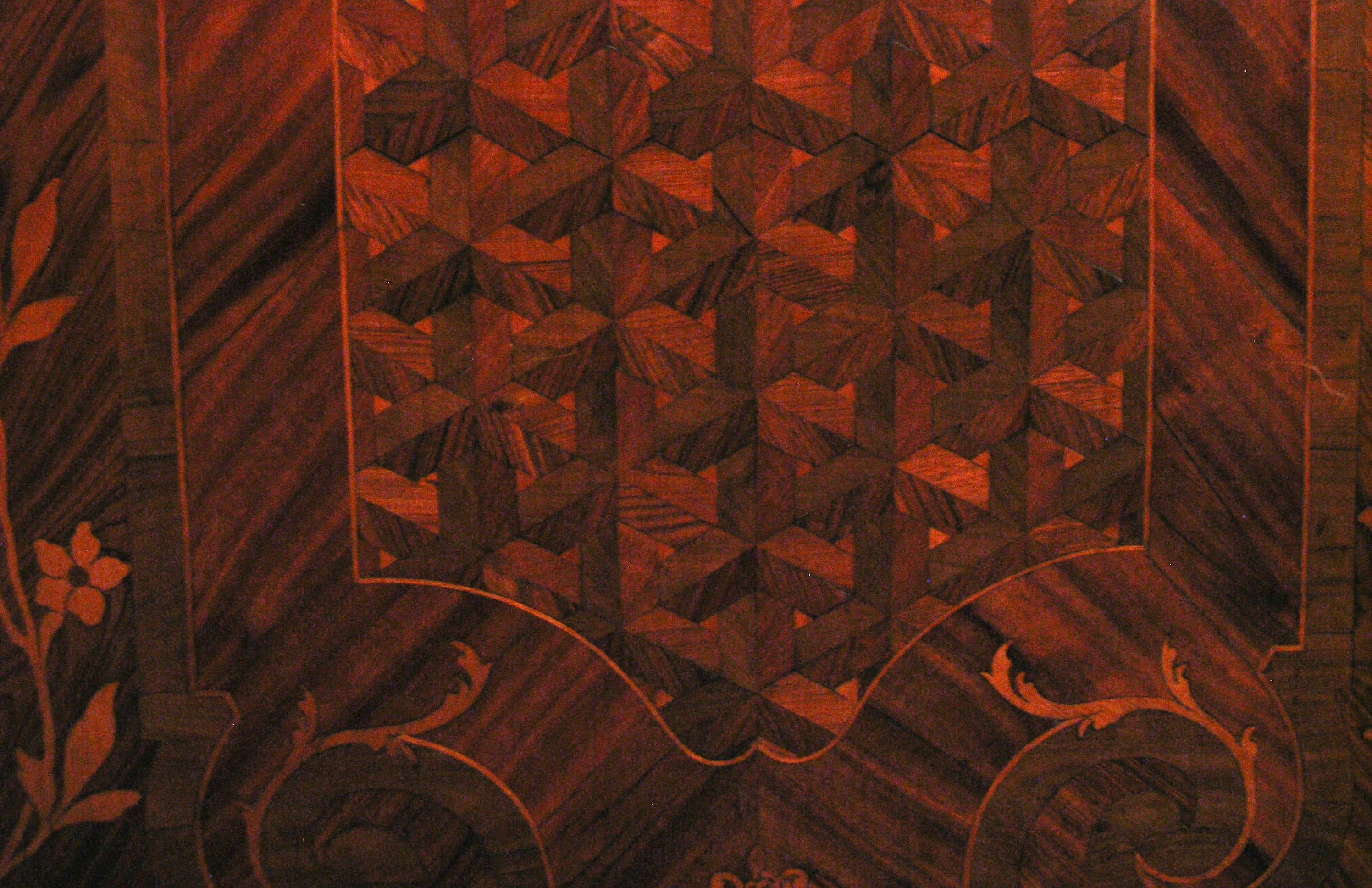 Catania Palazzo Biscari boiserie in legno antica ok